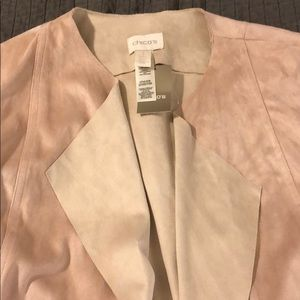 Chico's Jackets & Coats - Beautiful Chico's Duster Faux Suede Double Face